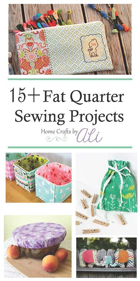 The Ultimate Pinterest Party Week 185 | 15+ Fat Quarter Sewing Projects - These tutorials will give you ideas of fun sewing projects you can make with fat quarters of fabric.