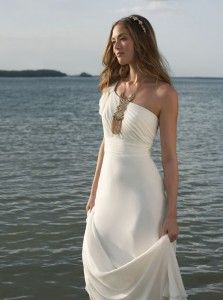 Destination Wedding Dresses. so flattering. this dress is so beautiful that embellishments and decor isn't even needed.