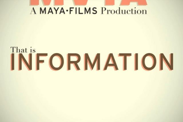 """This is a short film by MAYA Design about information. Although most of us think we know what we mean when we say """"information,"""" we…"""