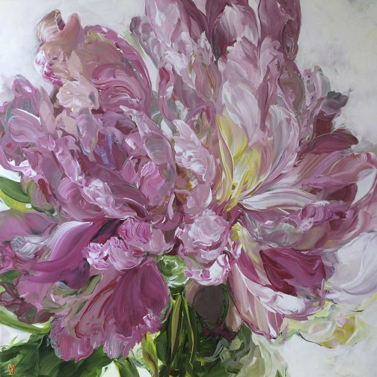 Bobbie Burgers Paintings of Peonies - Bing images