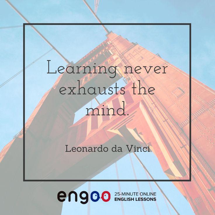 Обучение никогда не исчерпывает ум. – Леонардо да Винчи