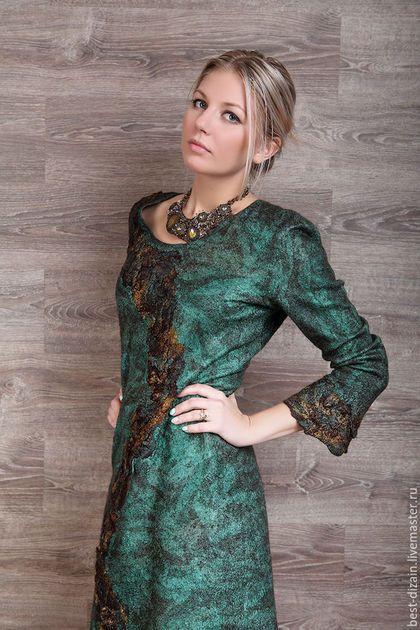 """Платья ручной работы. Ярмарка Мастеров - ручная работа. Купить Платье """"Малахит"""". Handmade. Зеленый, авторское платье"""