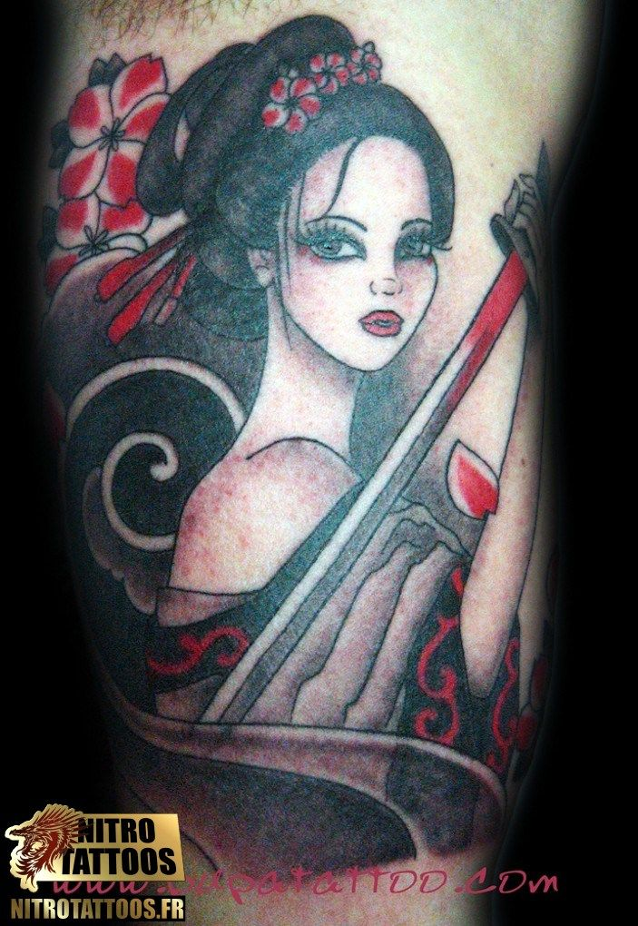 Geisha Guerriere Tattoos