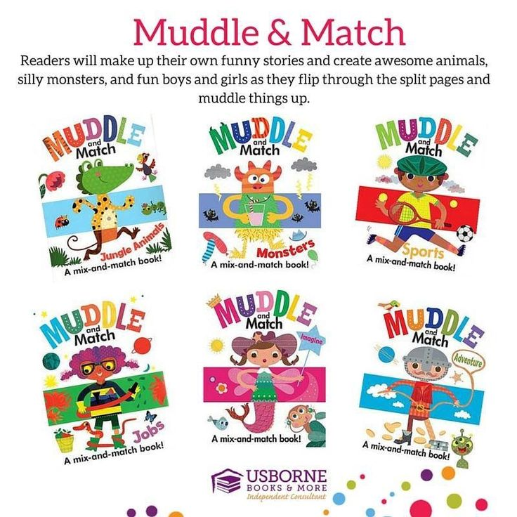 Muddle and Match books are fun to flip the split pages and create silly images!