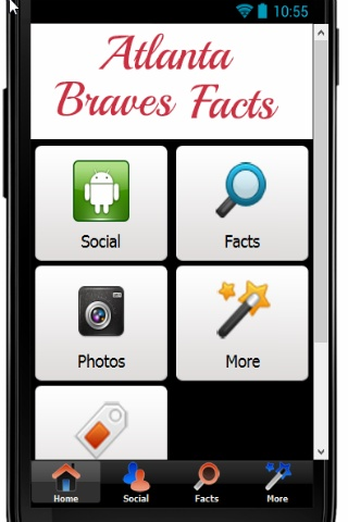 Love Braves Baseball? Then you need to download the best fan app.    Follow the Braves on Facebook, Twitter, YouTube and Pinterest. You can even submit your favorite Braves pics to be included in future updates.    As a bonus you get Braves Facts...forget Chuck Norris facts...these are the Atlanta Braves facts!    Download rate and share this app today!