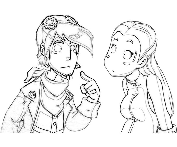 Printable Deponia Ms Goal Character Coloring Pages