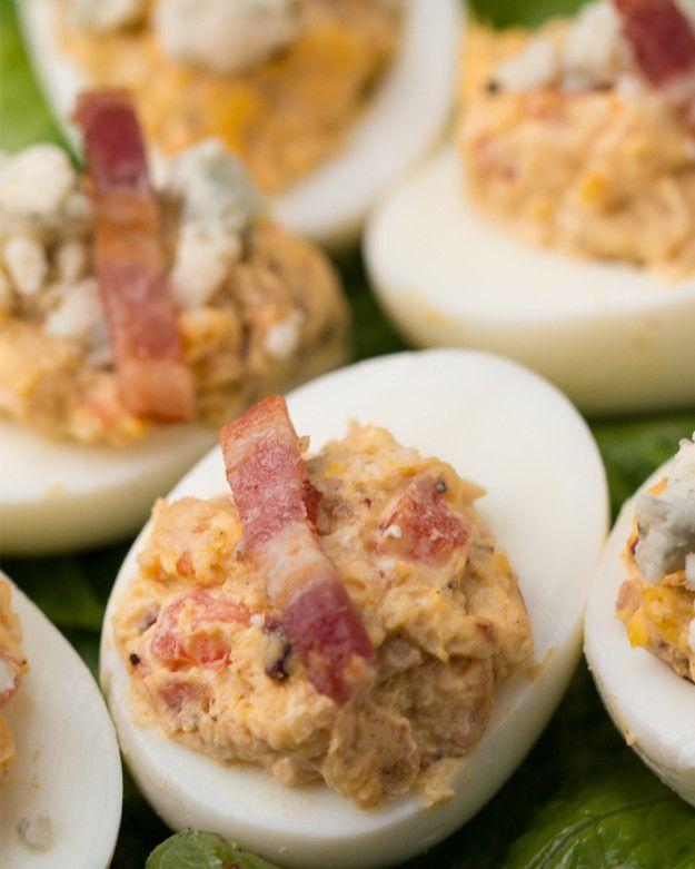 Cobb Salad Deviled Eggs | Cobb Salad Deviled Eggs
