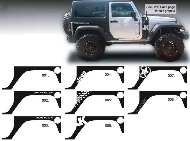 Best Jeep Decals Images On Pinterest Jeep Decals Sticker And - Custom windo decals for jeepsjeep wrangler side decals and stickers jeep gear partsmods
