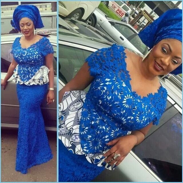 Coupure Lace And Ankara The Nigerian Wedding Dress
