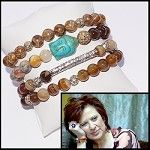 Caroline Manzo's wearing a turquoise buddha,  just like ours!  Check out this stunning House Of Rox MINI bracelet collection.