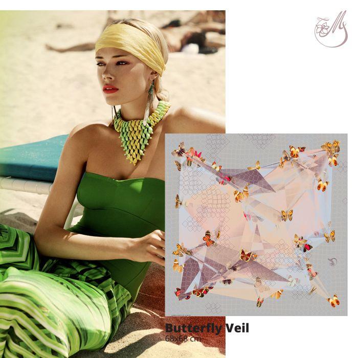 Have a wonderful sunny day! And always be stylish! #mscarves #magnoliascarves #inspiration #scarves #digitalprint #silk #wingsofsilk