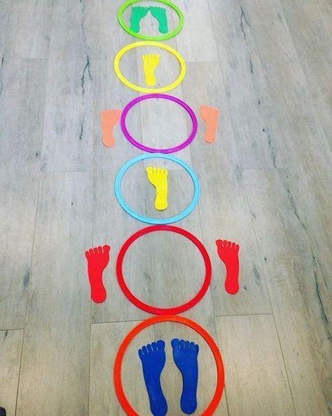 """""""Excelente atividade recreativa de #coordenaçãomotoraampla #educaçãoinfantil #preschool…"""""""