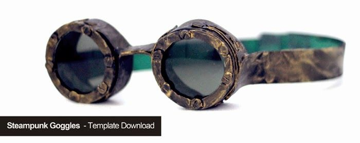 Cake Lie Blog | Steampunk Goggles - Oculos Steampunk  Template Download