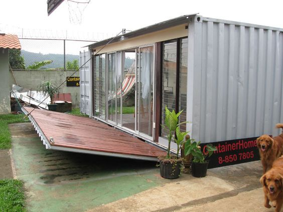 Shipping container developed for secure South American compounds.