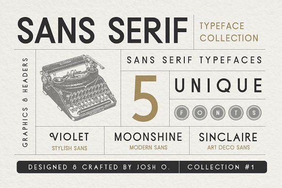 Sans Serif Typeface Collection by Josh O. on @creativemarket