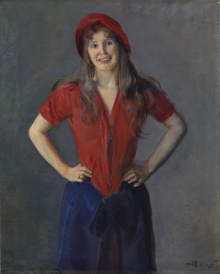 Oda Krohg malet af sin mand, den norske kunstner og skagensmaler Christian Krohg i år 1888.