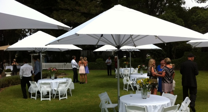 Bistro Outdoor Market Umbrellas - White