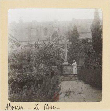 Claustro de la catedral de Almería, 1913 (álbum fotográfico conservado en Bibliothèque Nationale de France)