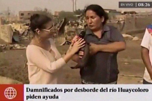Wanita Selak Baju Lalu Menyusukan Anak Babi Depan Wartawan  Sangat mengejutkan seorang wanita yang sedang ditemuramah oleh wartawan untuk sebuah televisyen bertindak menyusukan seekor anak babi secara tidak semena-mena.Kejadian berlaku di sebuah ladang di negara Peru itu apabila seorang wartawan bertanyakan tentang hujan lebat dan banjir serta kesannya ke atas perniagaan tempatan.Ketika ditemuramah wanita yang sedang mendukung anak babi itu tiba-tiba sahaja menyelak bajunya dan memberikan…