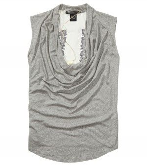 Maison Scotch Cowl Neck Top Grey