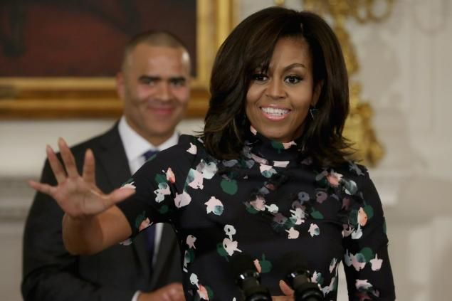 michelle obama at white house with hamilton cast march 14 2016 -