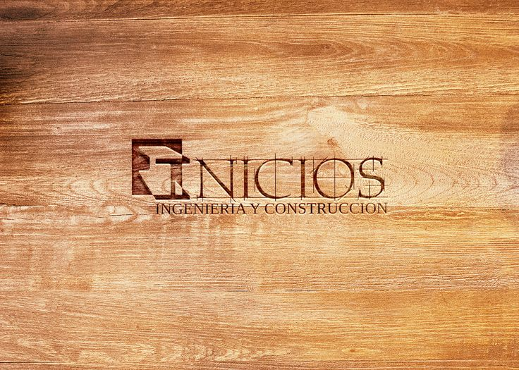 Logotipo grabado láser sobre madera de empresa Inicios