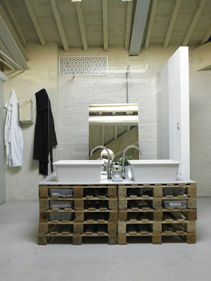 palettenmoebel badmoebel europaletten waschtisch selber bauen - Bad Unterschrank Selber Bauen
