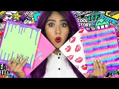DECORA tus LIBRETAS, Cuadernos o carpeta DIY - estilo tumblr | Pasteles y Pinceles - YouTube