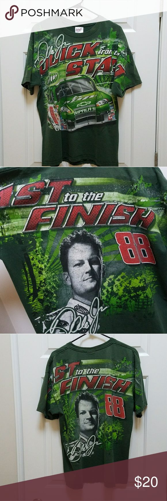 Dale Earnhardt Junior Nascar Chase T-shirt Chase Green T-shirt Nascar Dale Earnhardt Jr. Amp Energy Mountain Dew Chevy Impala SS #88 Excellent condition, very clean, XL size short sleeve shirt, manufactured in Nicaragua Chase Shirts Tees - Short Sleeve