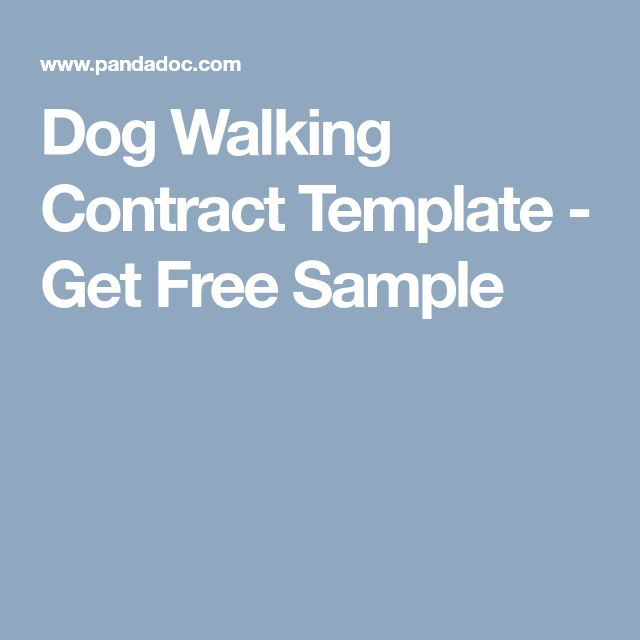 Dog Walking Contract Template - Get Free Sample