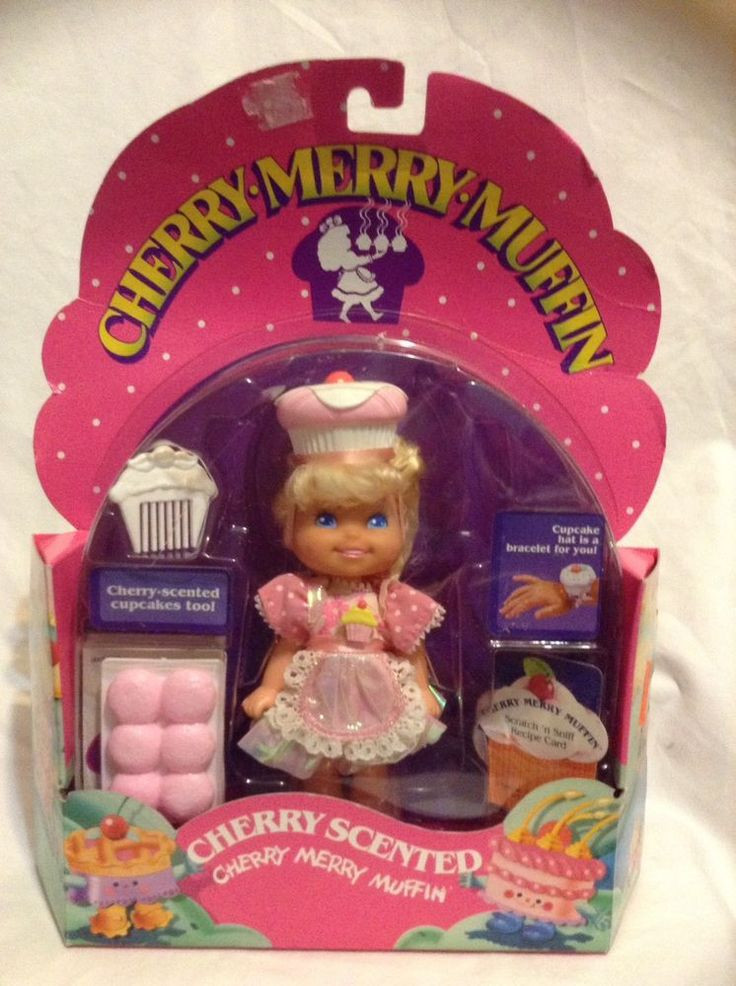Cherry Merry muffin doll cupcakes cupcake hat scented Vintage 1988 80s 90s rare #Mattel #Dolls