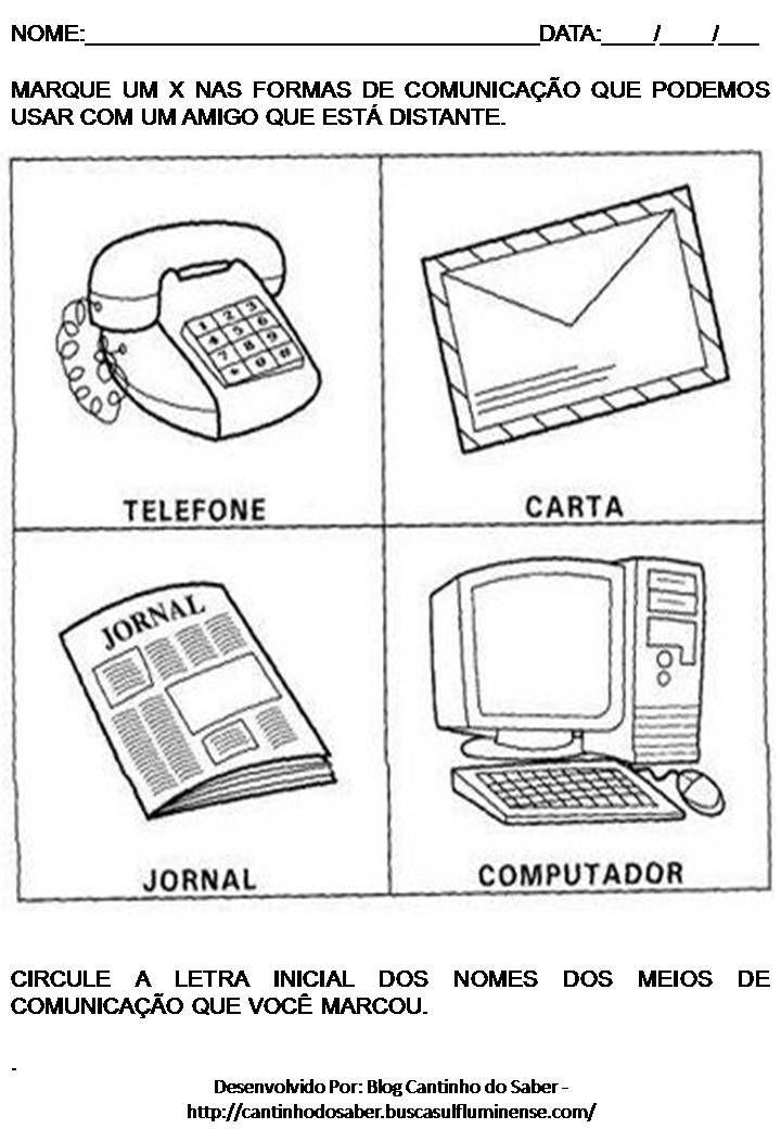 Imagen Relacionada Com Imagens Atividades Meios De Comunicacao