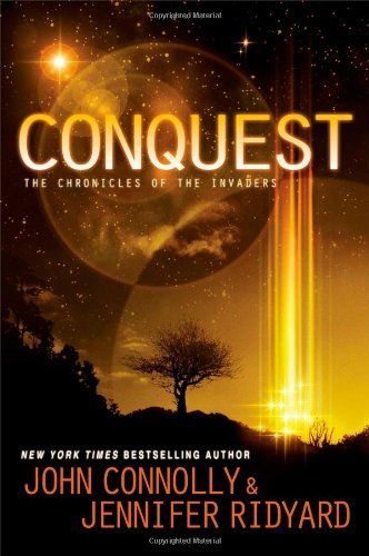Conques (The Chronicles of the Invaders Trilogy book 1) by John Connolly - It is ruled by the Illyri, a beautiful, civilized, yet ruthless alien species. But humankind has not given up the fight, and Paul Kerr is one of a new generation of young Resistance leaders waging war on the invaders.  Syl Hellais is the first of the Illyri to be born on Earth. Trapped inside the walls of her father's stronghold, hated by the humans, she longs to escape.