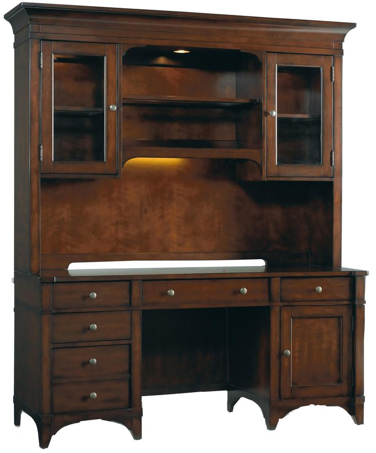 Abbott Place Computer Credenza With Hutch By Hooker Furniture Gardiners Furniture Desk