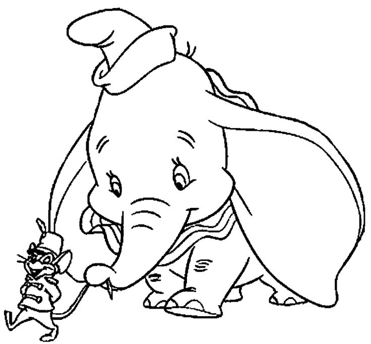 17 Best images about Dumbo Coloring