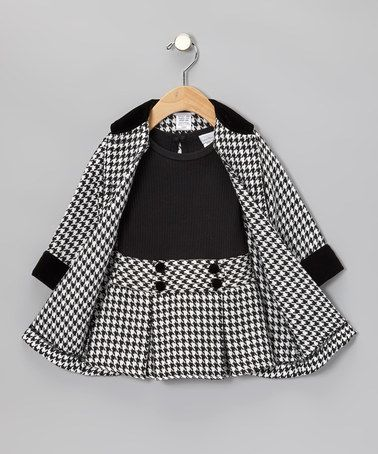 Take a look at this Black Houndstooth Coat Set - Infant by Sweet Heart Rose on #zulily today!