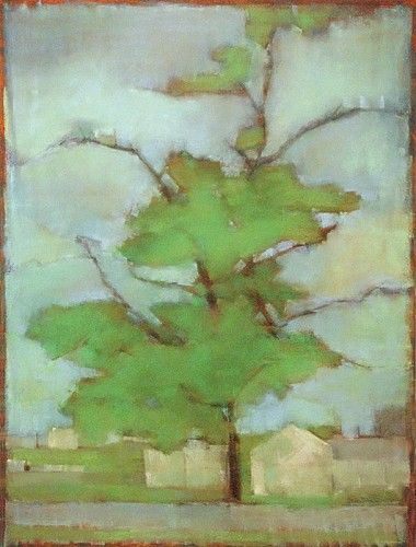 Kathleen Dunn, Green Haven Tree 2012, Pastel on paper