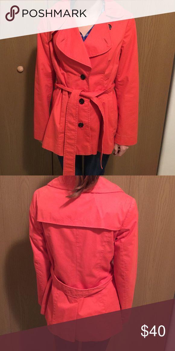 Banana republic coat Coral coat with buttons and belt, size small Banana Republic Jackets & Coats Pea Coats
