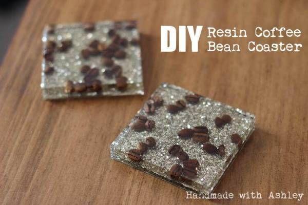 DIY Coffee Bean Resin Coasters