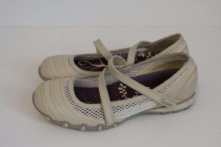 SKECHERS BIKERS MARY JANES WOMEN'S Size 7 NATURAL #Skechers #MaryJanes