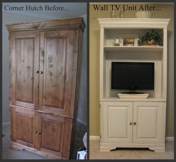 Tv hutch redo. Corner hutch redo. Beneathmyheart