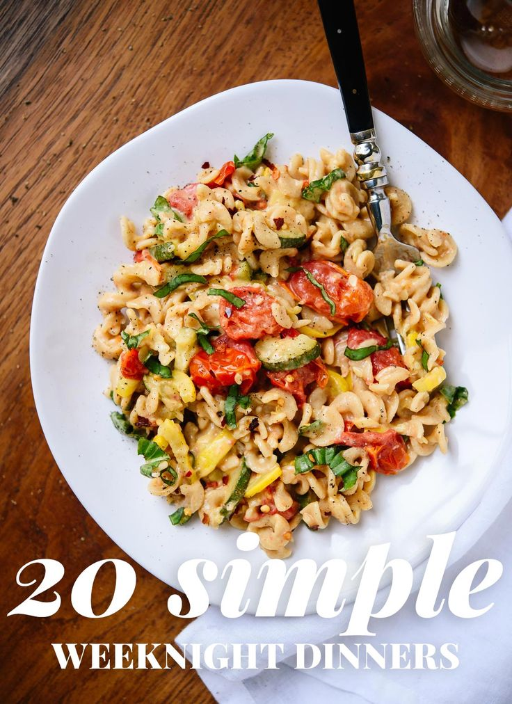 20 simple, fresh and healthy recipes for busy weeknights. All vegetarian…