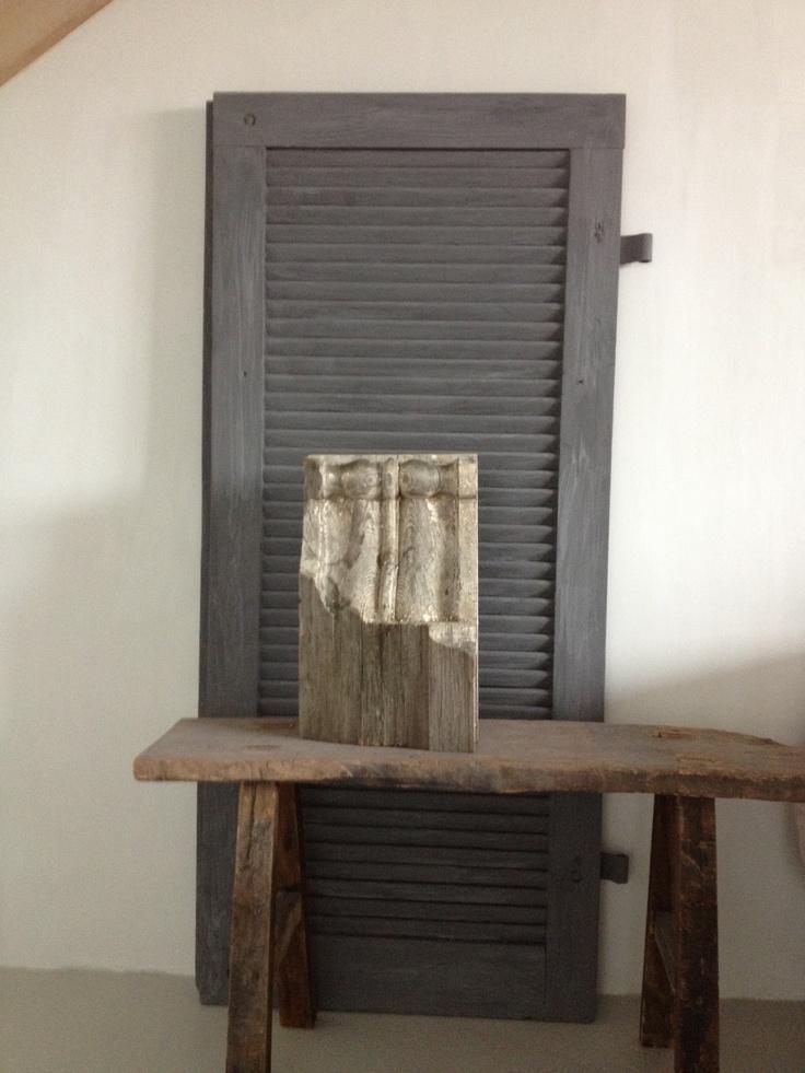 Oud luik geverfd in NERO van Carte Colori