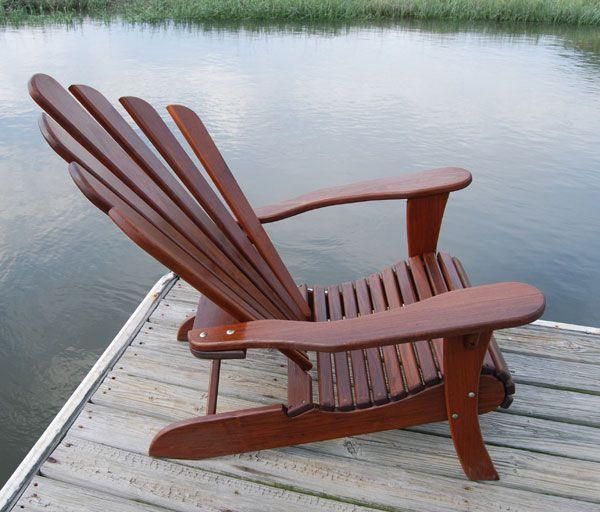 Brazilian Walnut Adirondack Chairs   Better Than Teak Adirondacks