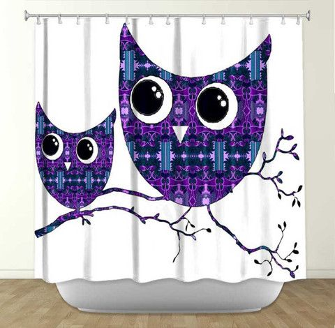 DiaNoche Designs Owl 23 By Susie Kunzelman Fabric Shower Curtain Love  These, So Many Amazing Designs!