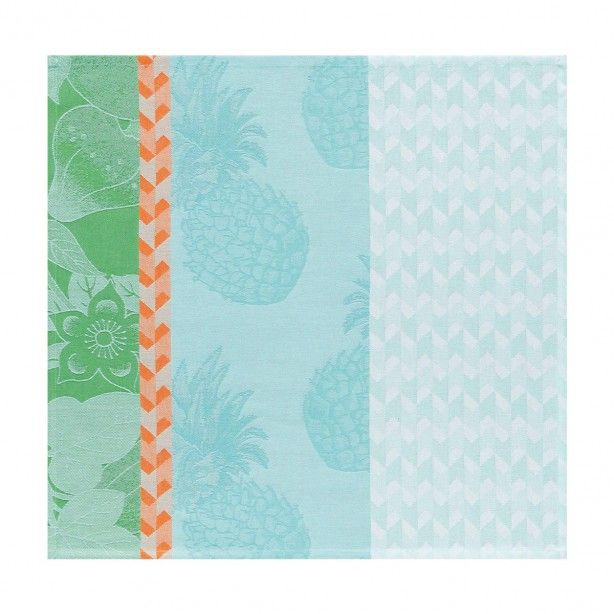 "Napkin Miami beach Blue aqua 52x52 / 21""x21"" 100% cotton"