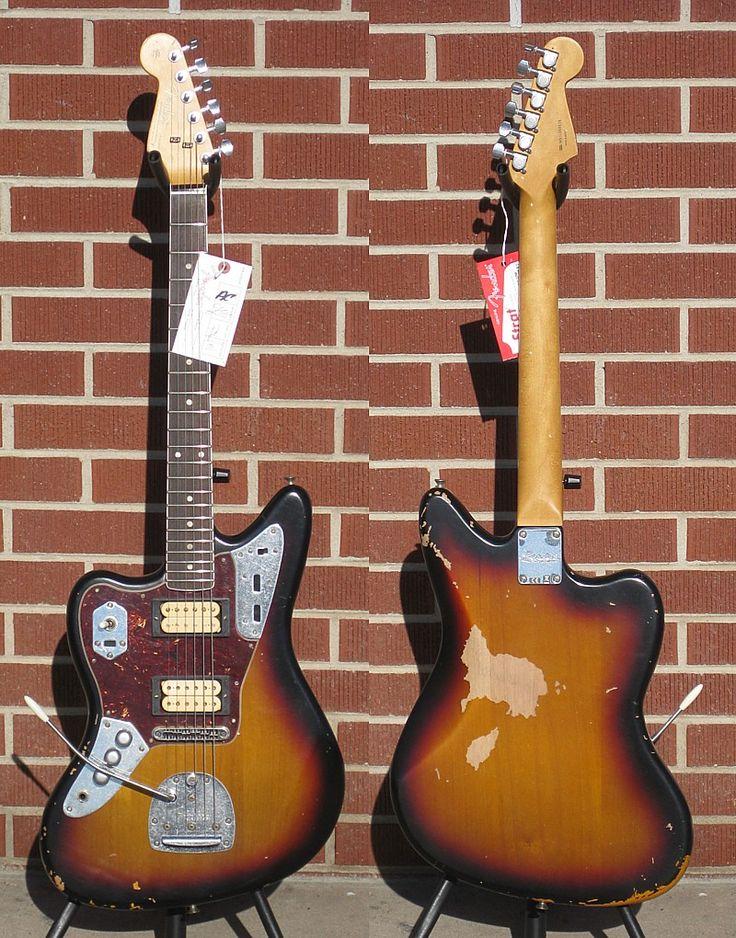 My dream Guitar. Good price too! Fender® Artist Series Kurt Cobain Jaguar®, Rosewood Fingerboard, 3-Color Sunburst 2011 Left Handed
