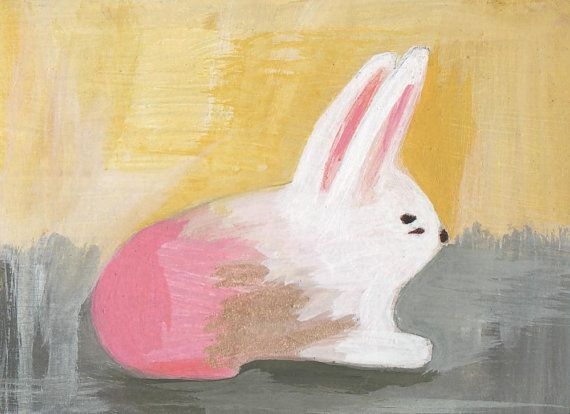 original small painting illustration  the by prettylittlethievesSmall Rabbit, Bunnies Painting, Small Painting, Painting Illustration, Originals Small, Art Kids, Small Bunnies, Art Illustration, Rabbit Painting