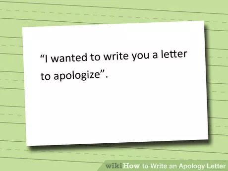 Humble Apology Letter Image Titled Write An Apology Letter Step 1