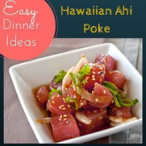 Easy Fish Recipe -Quick & Easy! Love Sushi? Try Hawaiian Poke w/ ahi tuna. Poke is an appetizer in Hawaii, but serve it as a main healthy meal with bed of greens. I made a video recipe for you so you can see how easy it is to make! Perfect low carb, low fat, high protein meal for a healthy lunch recipe or easy dinner recipe. Perfect for weight loss or people who are dieting & doing workouts. Great as easy dinner ideas, healthy appetizers & fitness minded women #weightloss…